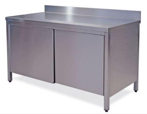 Tavoli e armadi in acciaio inox aisi 304 - Tavolo acciaio inox usato ...