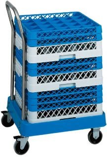 Rack dishwasher cart and baskets for dishwashers machines