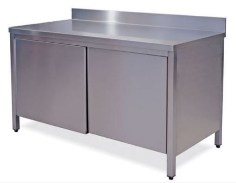 Tavoli e armadi in acciaio inox aisi