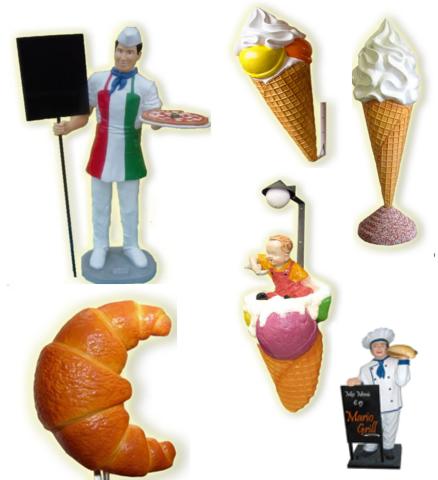 Figure tridimensionali pubblicitarie per locali pubblici