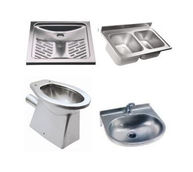 Stainless steel sinks and sanitary