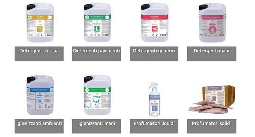 EcoAir detergenti, igienizzanti e profumatori