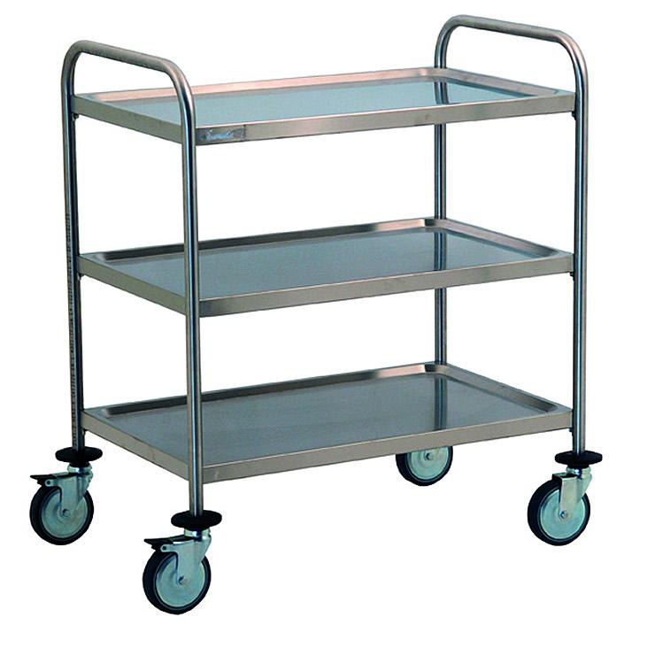 Carrelli in acciaio per settore ospedaliero e alberghiero
