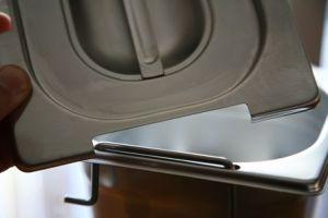 CPR1/3M couvrent 1 / 3 en acier inox AISI 304 avec split poignées
