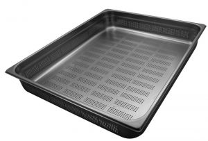 GST2/1P100F contenedores Gastronorm 2 / 1 H100 perforada de acero inoxidable AISI 304