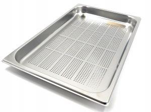 GST1/1P040F Contenitore Gastronorm 1/1 h40 forato in acciaio inox AISI 304