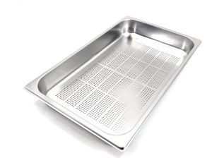 GST1/1P065F Gastronorm Container 1 / 1 h65 perforated stainless steel AISI 304