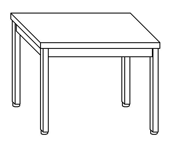 Tavolo da lavoro in acciaio inox AISI 304 su gambe dim. 90x70x85 cm (prodotto in