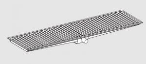 85021.20 Piletta sifonata a pavimento da cm 200x30x12h con filtro e scarico orizzontale frontale