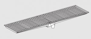 85020.26 Piletta sifonata a pavimento da cm 260x30x12h con filtro e scarico verticale frontale
