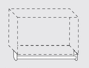 66020.12 Portamestoli per pensili senza ganci da cm 120x1.6