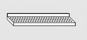 63801.19 Ripiano a parete forato cm 190x28x4h