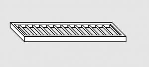63802.15 Ripiano a parete grigliato cm 150x28x4h