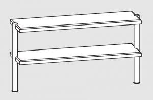 64110.13 Ripiano di appoggio tavoli 2 ripiani 2 gambe cm 130x35x70h