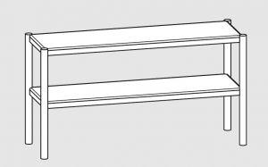 64100.17 Ripiano di appoggio tavoli 2 ripiani cm 170x35x70h