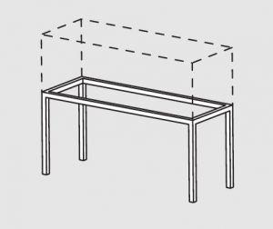 66000.12 Supporto pensile da tavolo cm 120x40x60h