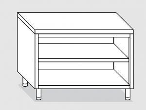 23100.18 Tavolo armadio a giorno agi cm 180x70x85h piano liscio - ripiano intermedio e di fondo