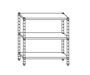 SC8070 shelf aluminized steel 90x40x160 cm