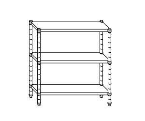SC8072 shelf aluminized steel 110x40x160 cm