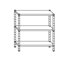 SC8077 estante de acero aluminizado 160x40x160 cm