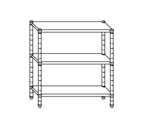 SC8088 estante de acero aluminizado 130x50x160 cm
