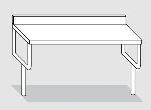 42000.18 Tavolo sbalzo su gambe cm 180x60x90h
