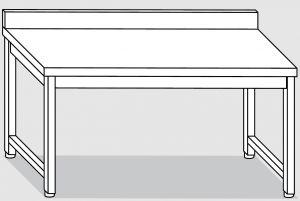 30101.12 Tavolo su 4 gambe past cm 120x90x85h alzatina posteriore-senza ripiano inferiore