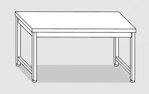 30000.14 Tavolo su 4 gambe past cm 140x80x85h piano liscio-senza ripiano inferiore