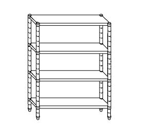 SC8198 shelf aluminized steel 110x50x180 cm