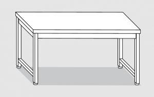 30100.22 Tavolo su 4 gambe past cm 220x90x85h piano liscio-senza ripiano inferiore