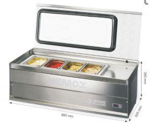 4 MAGIC-PRO-100 Conservatore Nemox 4 gusti gelato