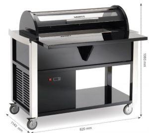 5MAGIC-PRO125 Carrello con conservatore per gelati e sorbetti. Vetrina ventilata Nemox