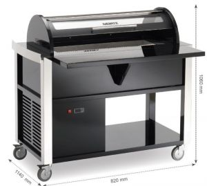 5MAGIC-PRO125 Trolley with conservator for ice-creams and sorbets. Nemox ventilated display case