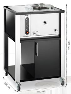 6K T-MN ice cream BLACK nemox professional freezer. Suitable for any environment