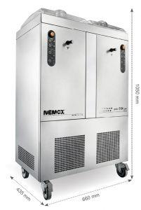 GELATO5 + 5K-TWIN CREATE Nemox Double professional ice cream machine