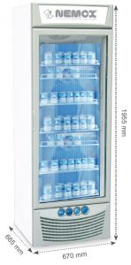 MAGIC-PRO280B Vertical refrigerated display case - Ventilated Nemox