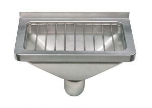 LX1900 Vuotatoio con griglia in acciaio inox  AISI 304 dim. 470x332x185