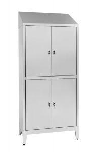 IN-S50.694.06 Placard à plusieurs étages en acier inoxydable Aisi 304 4 places à 4 places avec cloison sale / propre