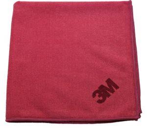 3M-17822 Paño de microfibra esencial 2012 rojo (50 piezas)