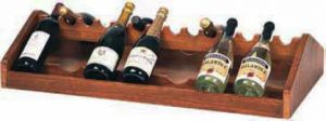 A1250 Espositore vini legno da appoggio 68x46x19h