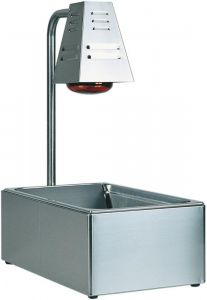 BI4719 Stainless steel Gastronorm GN container with Infrared lamp 60x33x68h