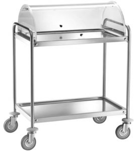 CA 1390C Chariot en acier inox avec dome 110x60x109h