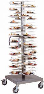 CA1440 Dish cart 96 plates Ø18/23 Chromium-plated racks