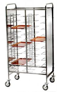 CA1465P Universal tray holder for 20 trays side panels in white perfex