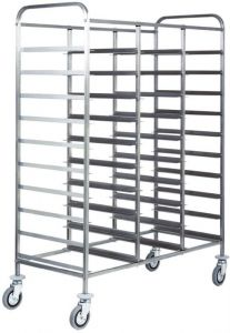 CA1470 Stainless steel tray trolley large capacity 30 trays