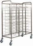 TCA 1475 Stainless steel Universal tray-holder trolley for 30 trays