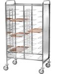 TCA 1475PI Stainless steel universal tray-holder trolley 30 trays Side panels