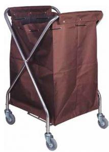 CA3203 Chariot pliable porte-linge avec sac en toile avec roues