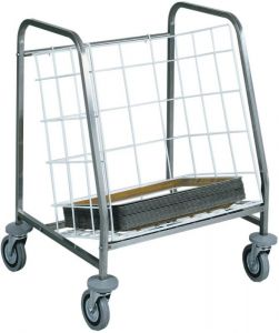 CA631 Tray stacking and distribution trolley Capacity 130 trays
