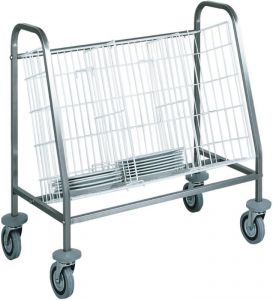 CA656 Dishes stacking and distribution trolley 1 basket capacity 100 dish